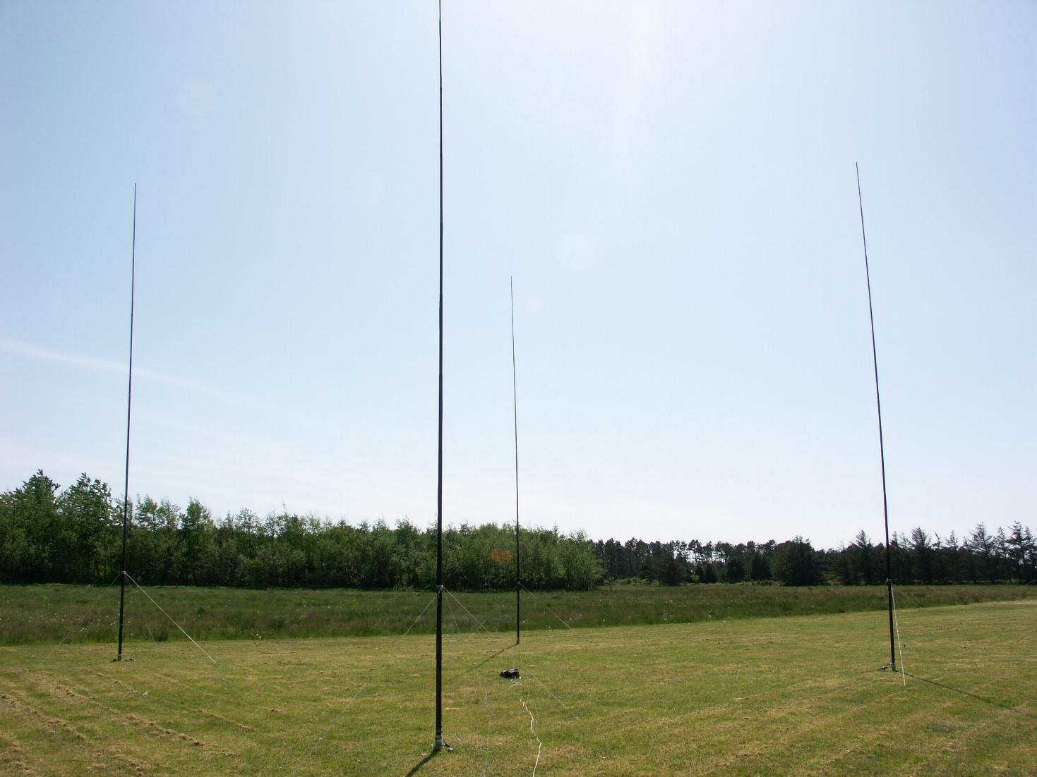 4 square array for the 40m band oz1rdp for 4 sq